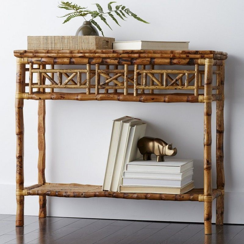 Bamboo Furniture Store: Rattan Console Side Table
