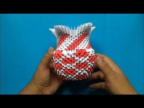 origami 3d jarron