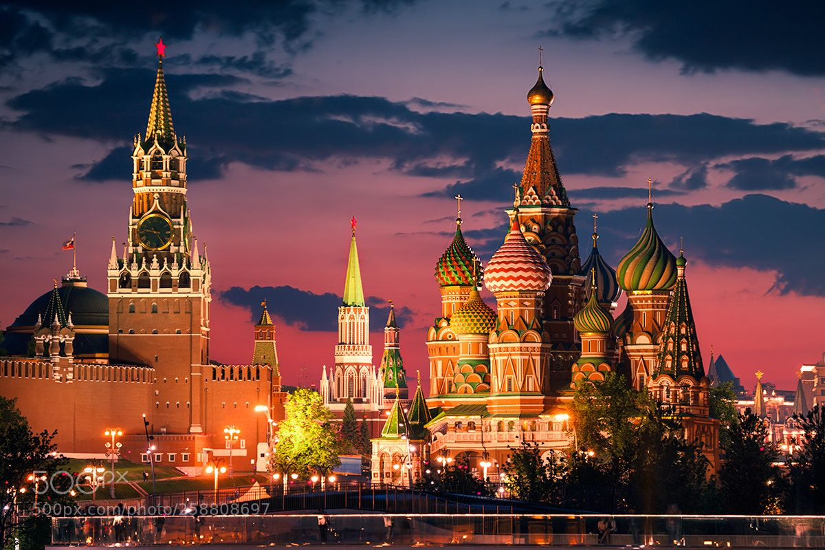 Moscow By Night By Karolnienartowicz St Basils Cathedral Places Around The World Fantasy Places