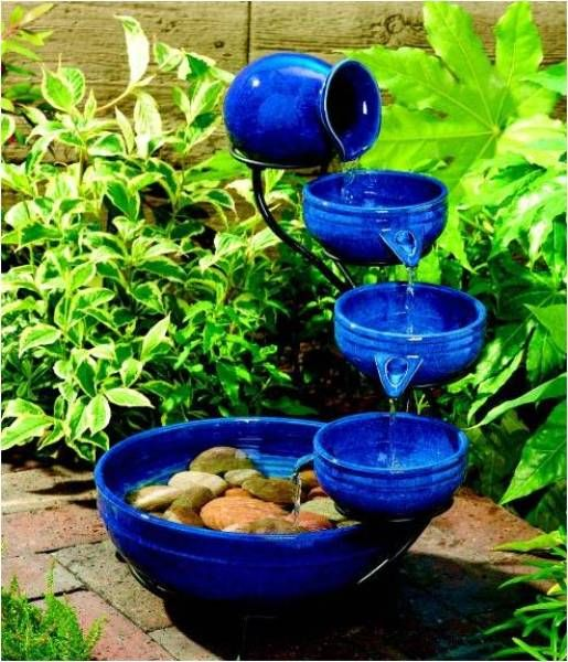 Outdoor Ceramic Solar Fountainu2026..Your Own Garden Waterfall   Find Fun Art  Projects