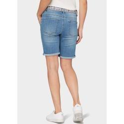 Photo of Tom Tailor Women's Tapered Bermuda Shorts, blå, vanlig, størrelse 33 Tom TailorTom Tailor