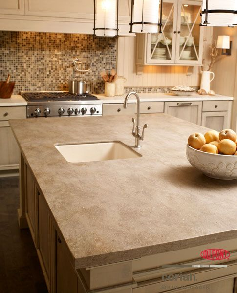 Corian sonora clamshell by dupont solid surfaces - Solid surface bathroom countertops ...