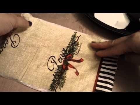 Altered Napkin Glassine bag tutorial