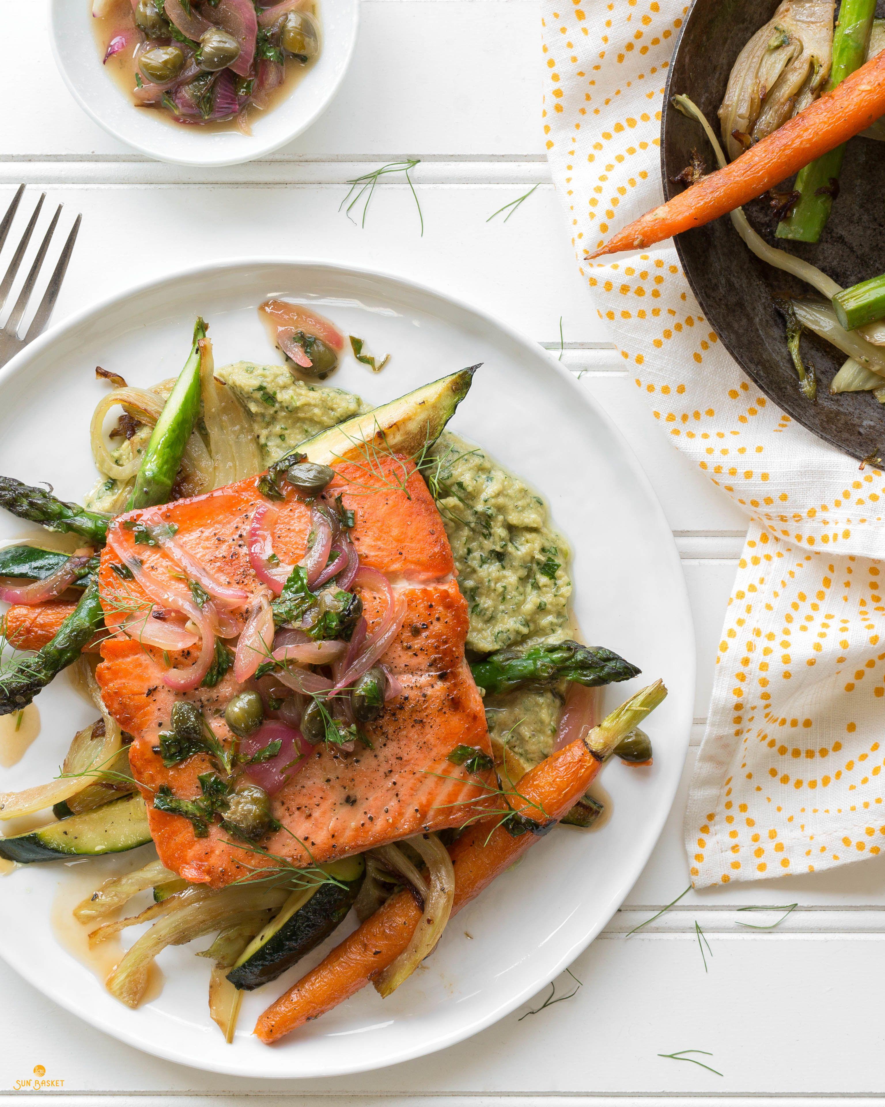 Healthified Salmon with Spring Veggies photo