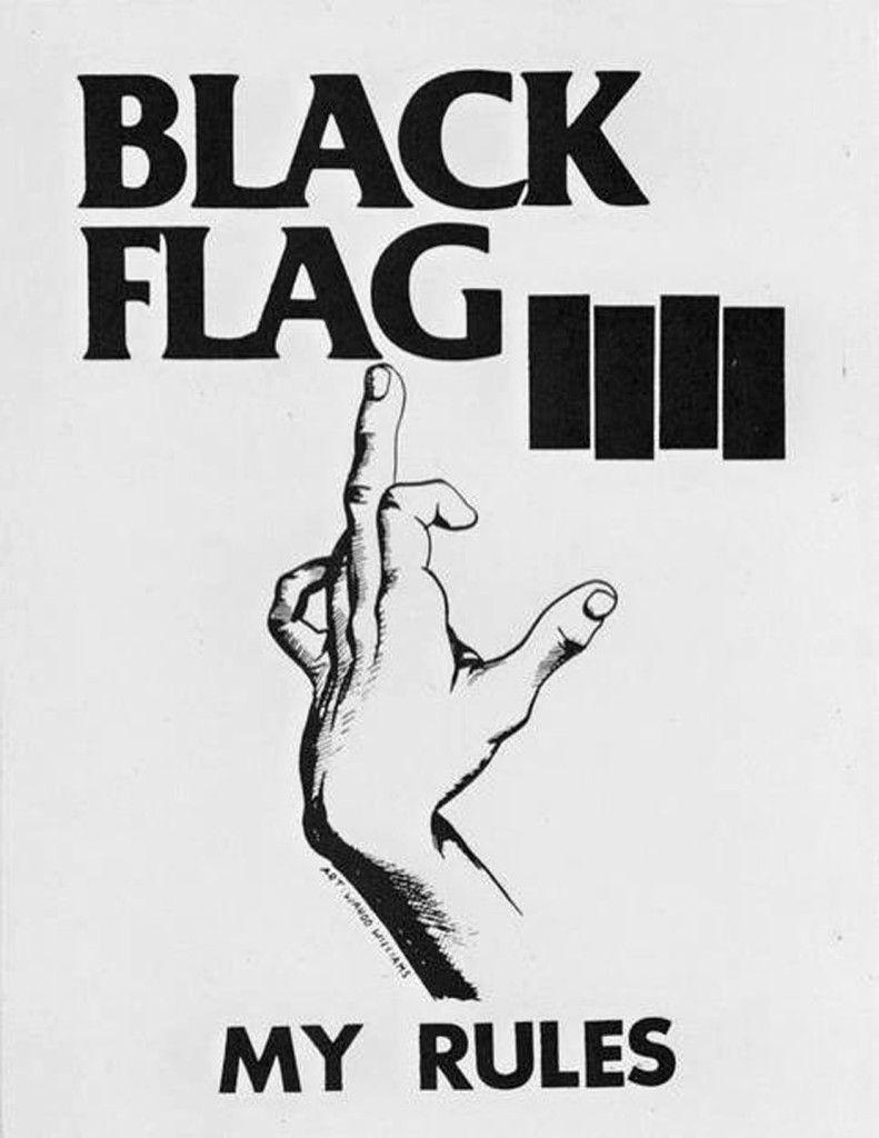 Black Flag My Rules Punk Poster Punk Art Black Flag
