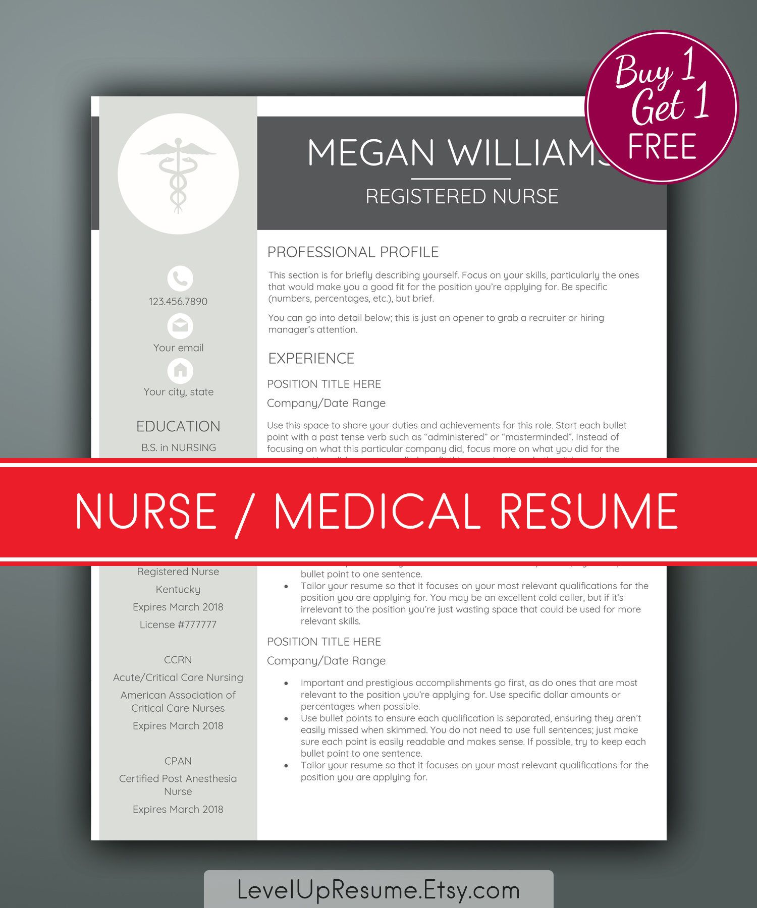 Pin By Meagan Morron On Nursing    Nursing Cv Rn Resume
