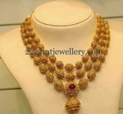 40gm gold jewellery latest gold rudraksh necklace Necklaces