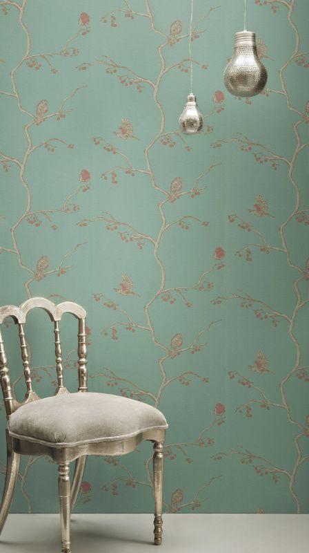 The English Robin Wallpaper - Jade by Barneby Gates