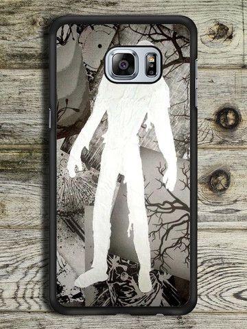 Zombie White Sillhouette Samsung Galaxy S6 Edge Plus Case