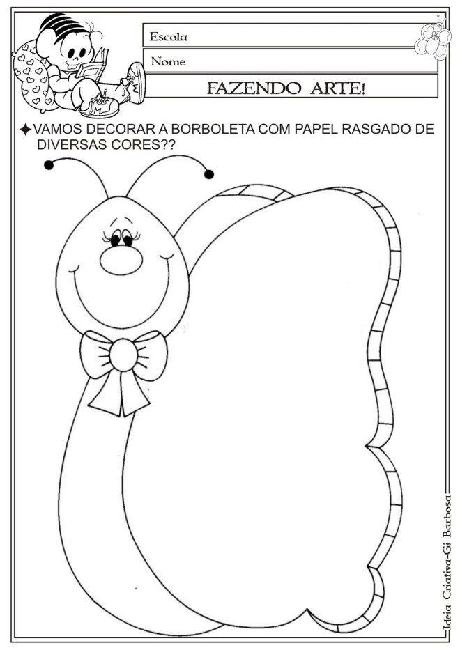 Colagem Borboleta Com Imagens Atividades De Colagem Educacao