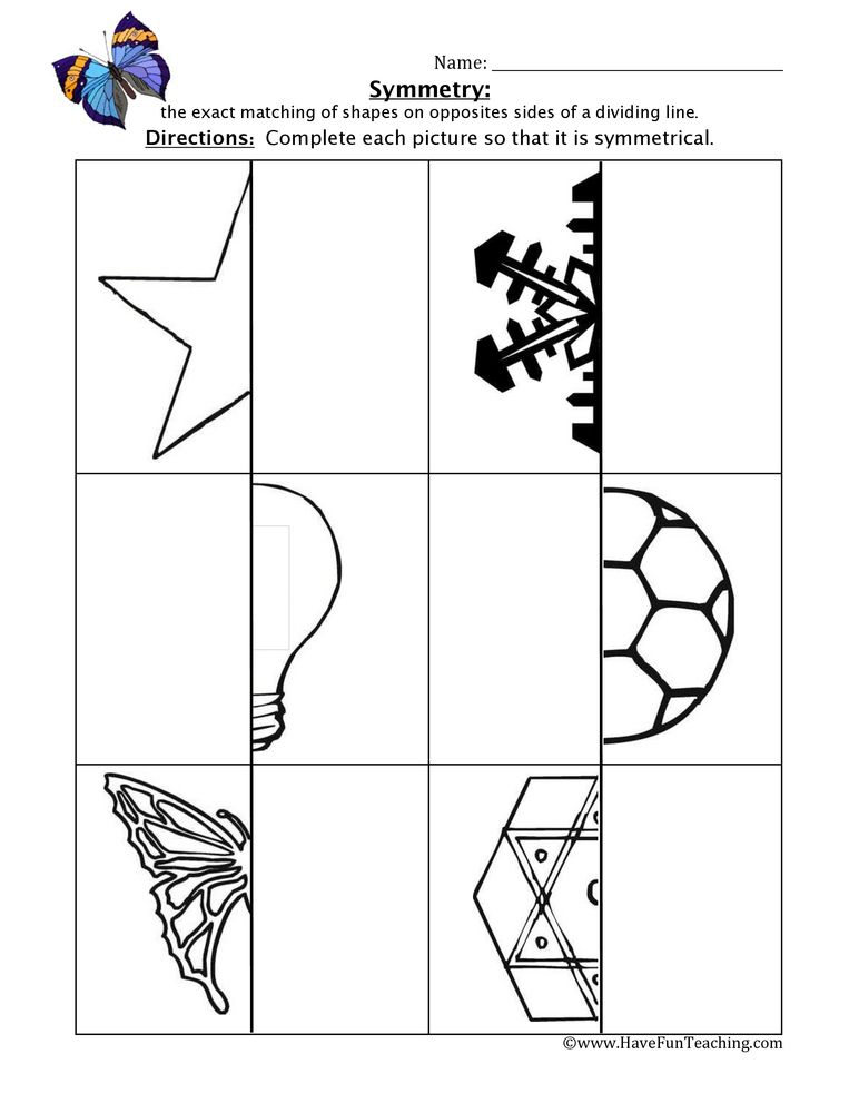 Reflective Symmetry Worksheets by callen5 - Teaching Resources - Tes