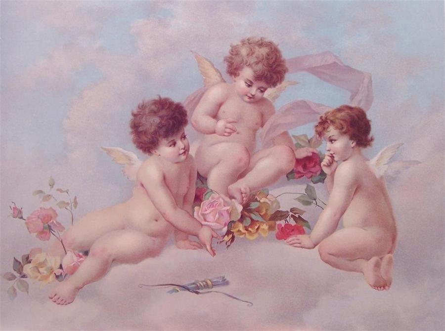 Картинки для декупажа дети ангелы