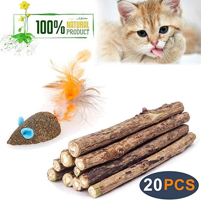 Amazon Com Wolover Cat Catnip Sticks Natural Matatabi Silvervine