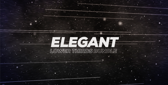 Elegant Lower Thirds By Aliadel Elegant Lower Thirds 30 Lower Thirds With After Effects Project Files Full Hd 1920x10 Lower Thirds Lower After Effects Projects
