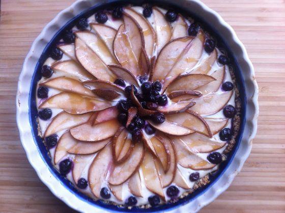Yogurt & Pear Tart | via Wild Roots Bakery #glutenfree #dairyfree #soyfree #nutfree #eggfree #sugarfree #vegan