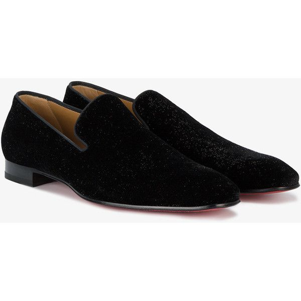 7883d5969856 Christian Louboutin Dandelion Velvet Loafers ( 645) ❤ liked on Polyvore  featuring men s fashion