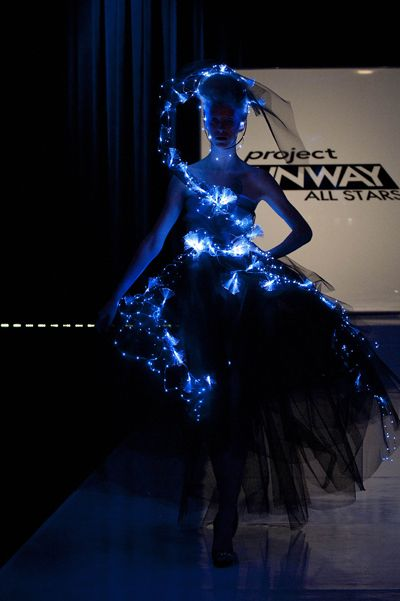 Fiber optic dress from Project Runway
