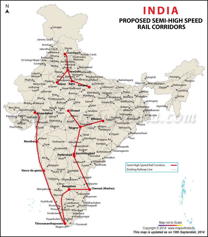 Map Showing Proposed Semi High Speed Rail Corridors Network Http - Japan map bullet train