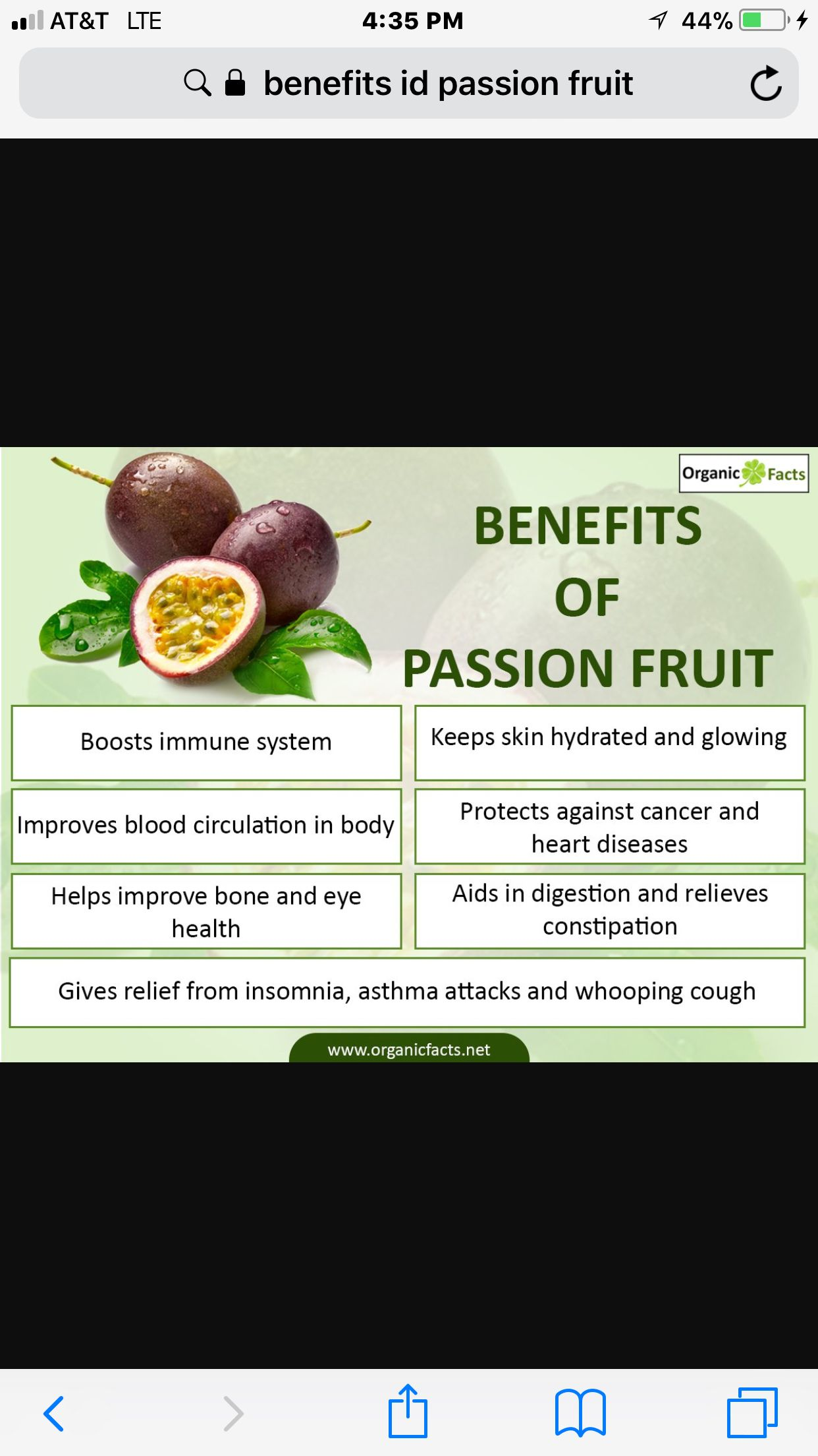 benefits of passion fruit. i've had passion fruit tea and it