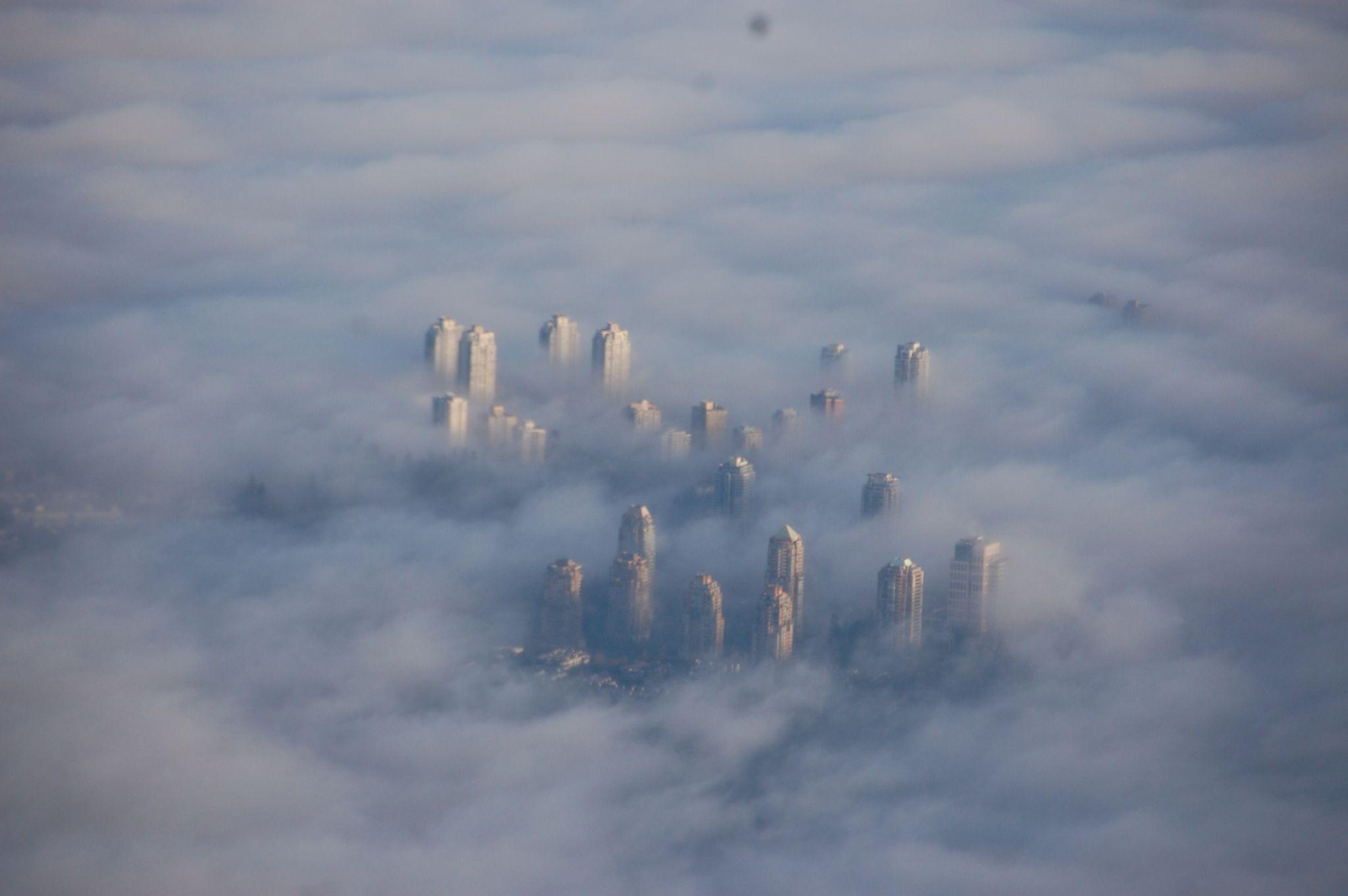 Vancouver vu d'avion