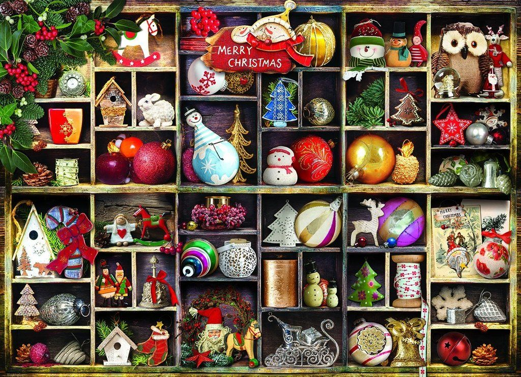 Christmas Ornaments 1000 Piece Jigsaw Puzzle Xmas Gift Ideas