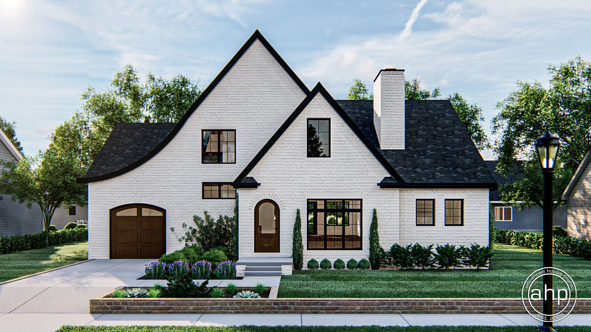 Read Park 1.5 Story Cottage House Plan in 2020   Exterior brick