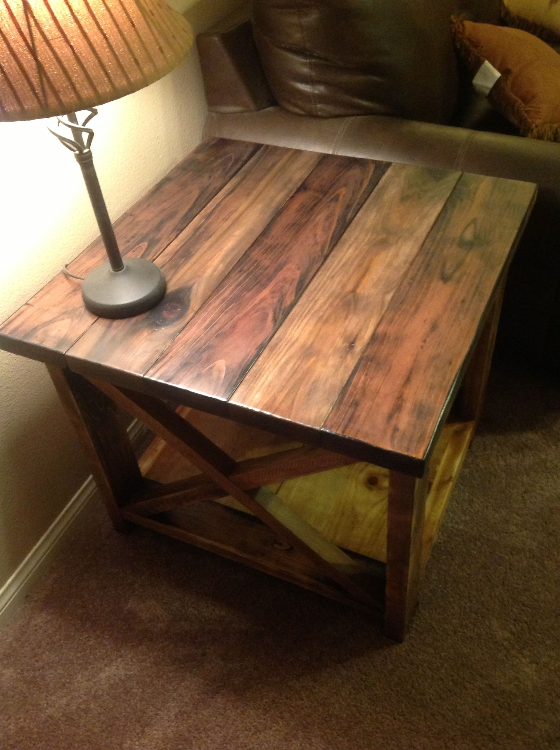 Best Rustic X End Table My Husband Made These Rustic End 400 x 300