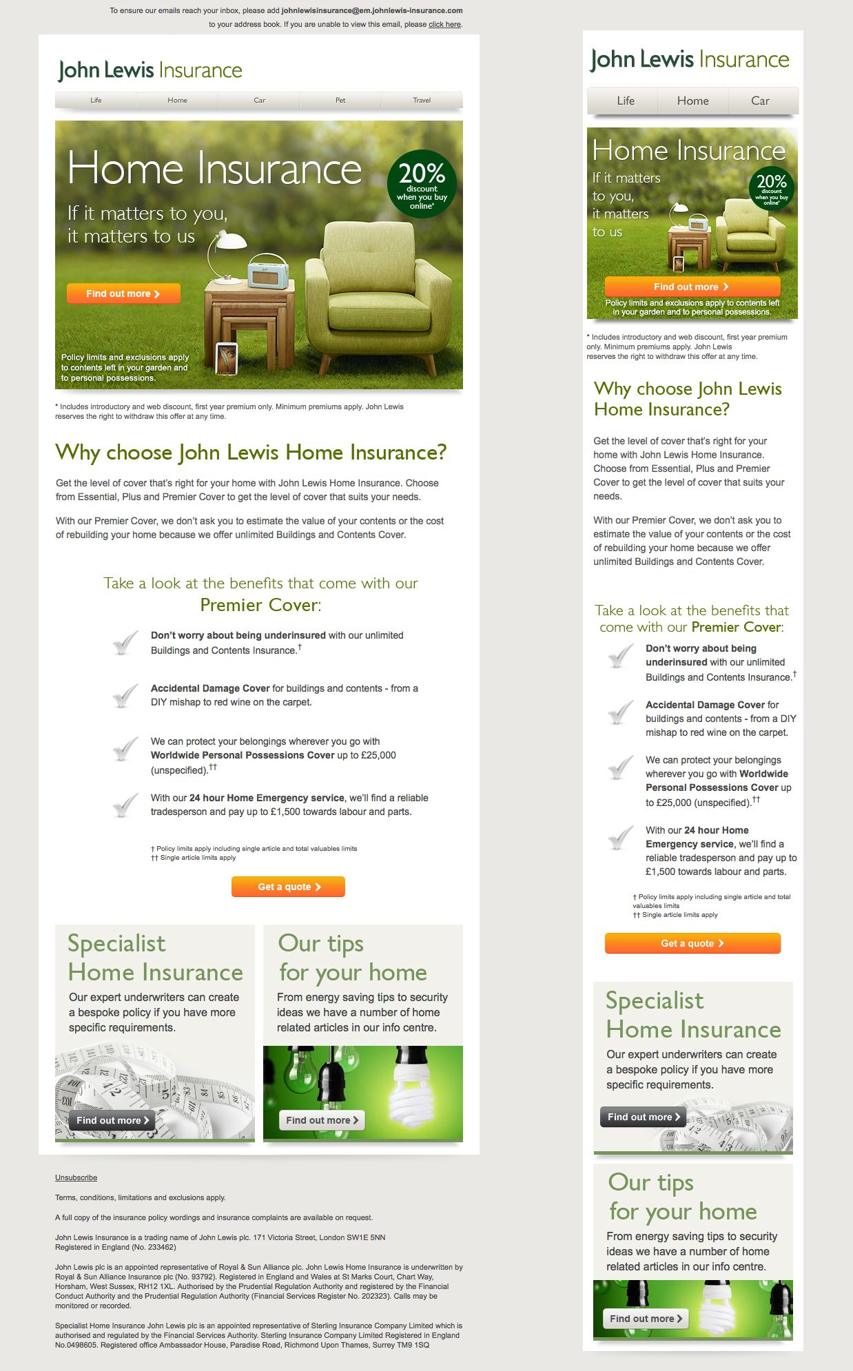 John Lewis Responsive Email Responsive Email Email Design Inspiration John Lewis Home
