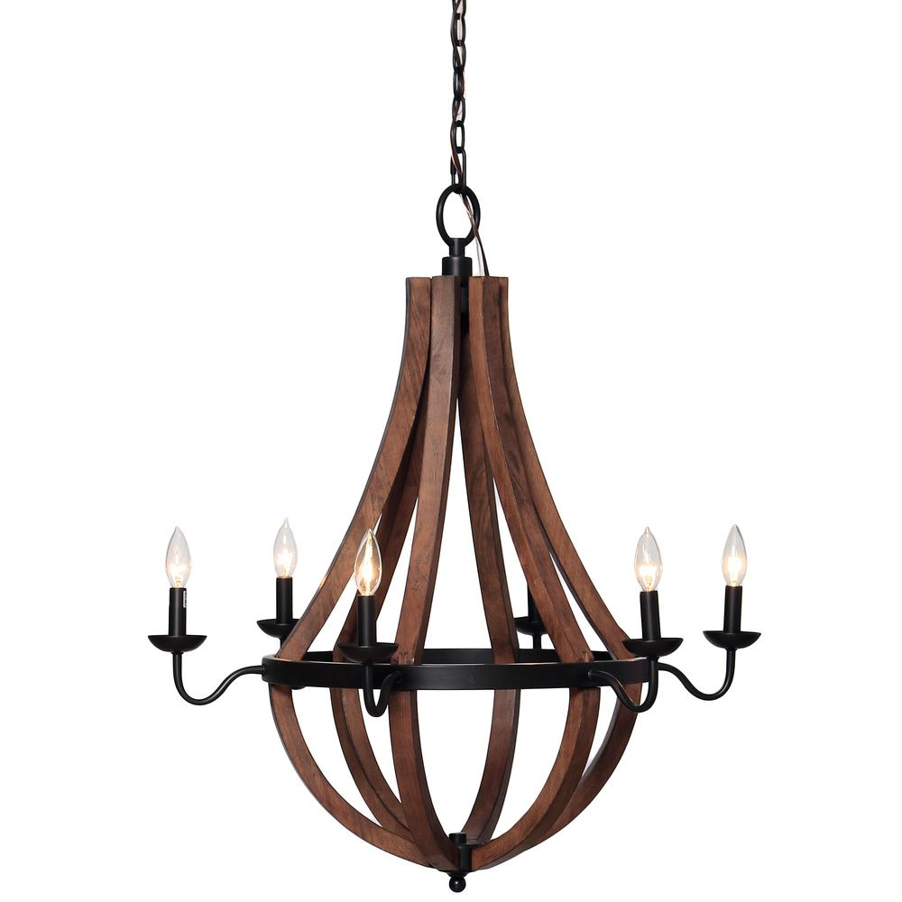 Vineyard Oil rubbed Bronze 6 light Chandelier Overstock