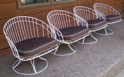 Homecrest Mid Century Modern Patio Chair Set Of 4