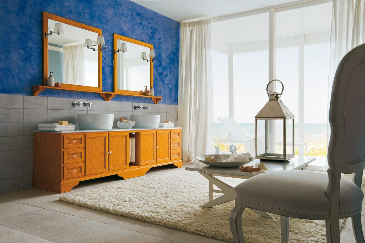 Bagno Arancione ~ Bagno paestum essenza frassino laccato decapè arancio