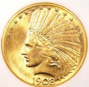 1908 D Indian Gold Eagle 10 Obv Old Coins Coins Coin Collecting