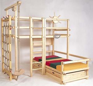 Ein abenteuerbett der spielplatz im kinderzimmer hochbett dschungeldeko kid beds room - Abenteuerbett junge ...