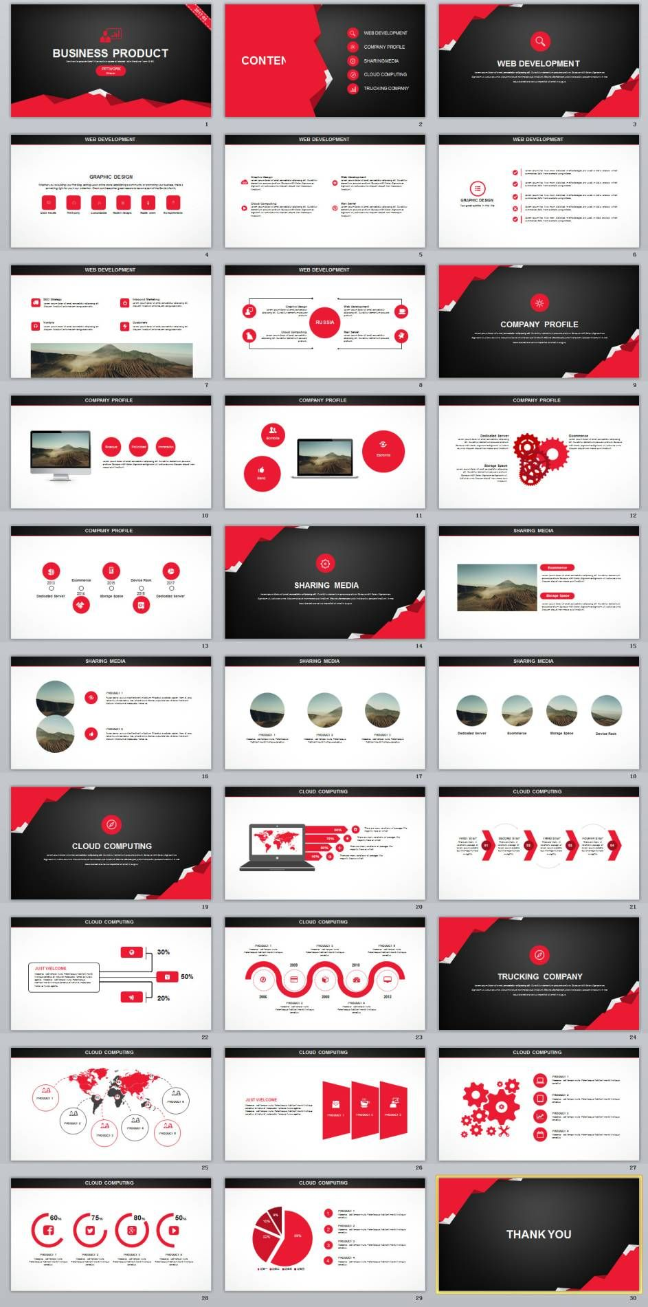 Creative Business Product Plan Powerpoint Template
