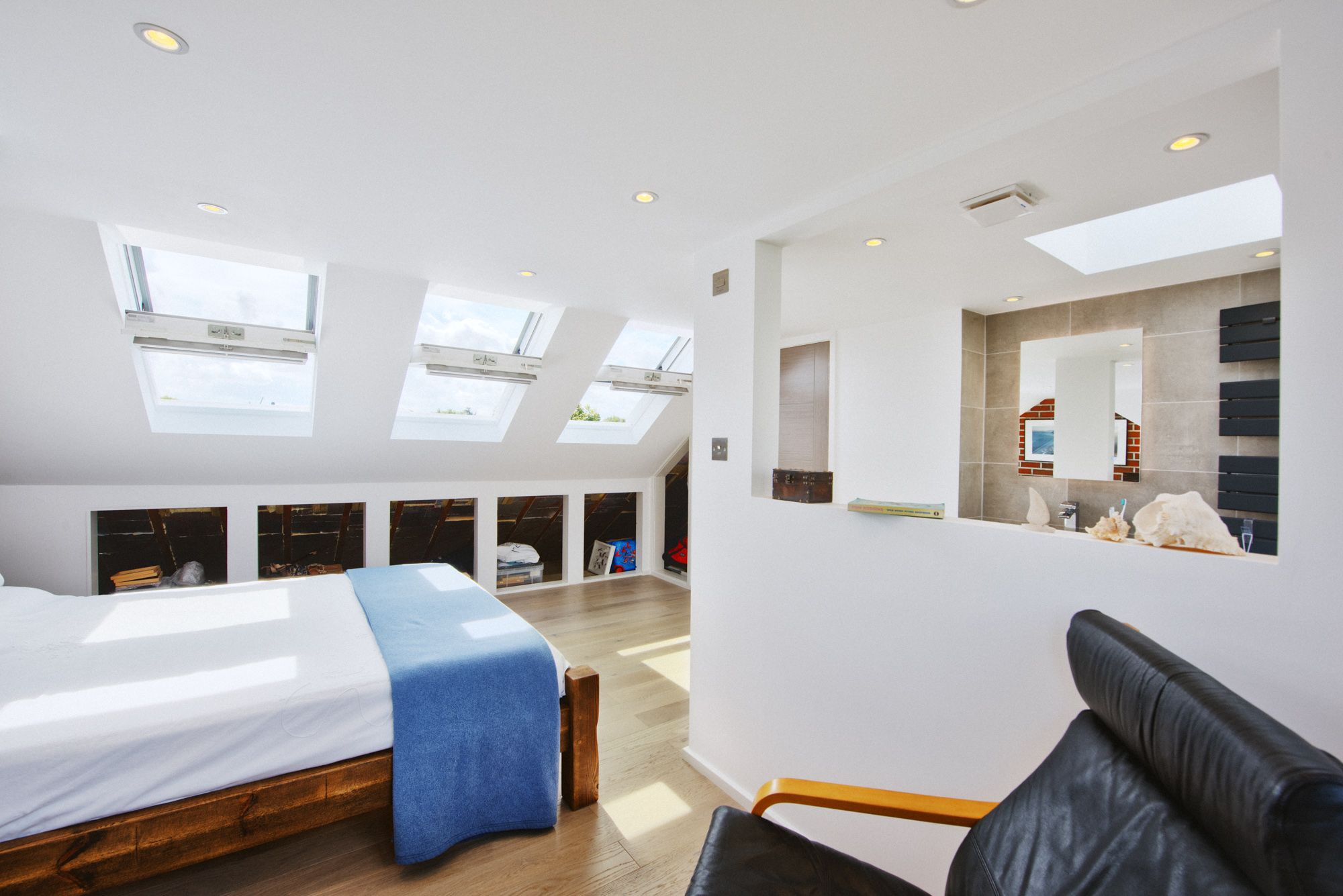 Loft bedroom ideas with ensuite  When Geoffrey and Santa bought their first home together near Kew