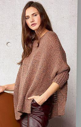 Strickanleitung Für Einen Oversized Pullover Mit Fledermausärmeln