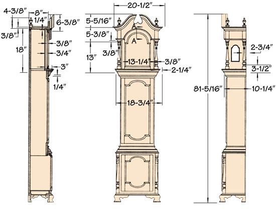Grandfather clock plans google search daddy 39 s favorite flowers and other stuff pinterest - Grandfather clock blueprints ...