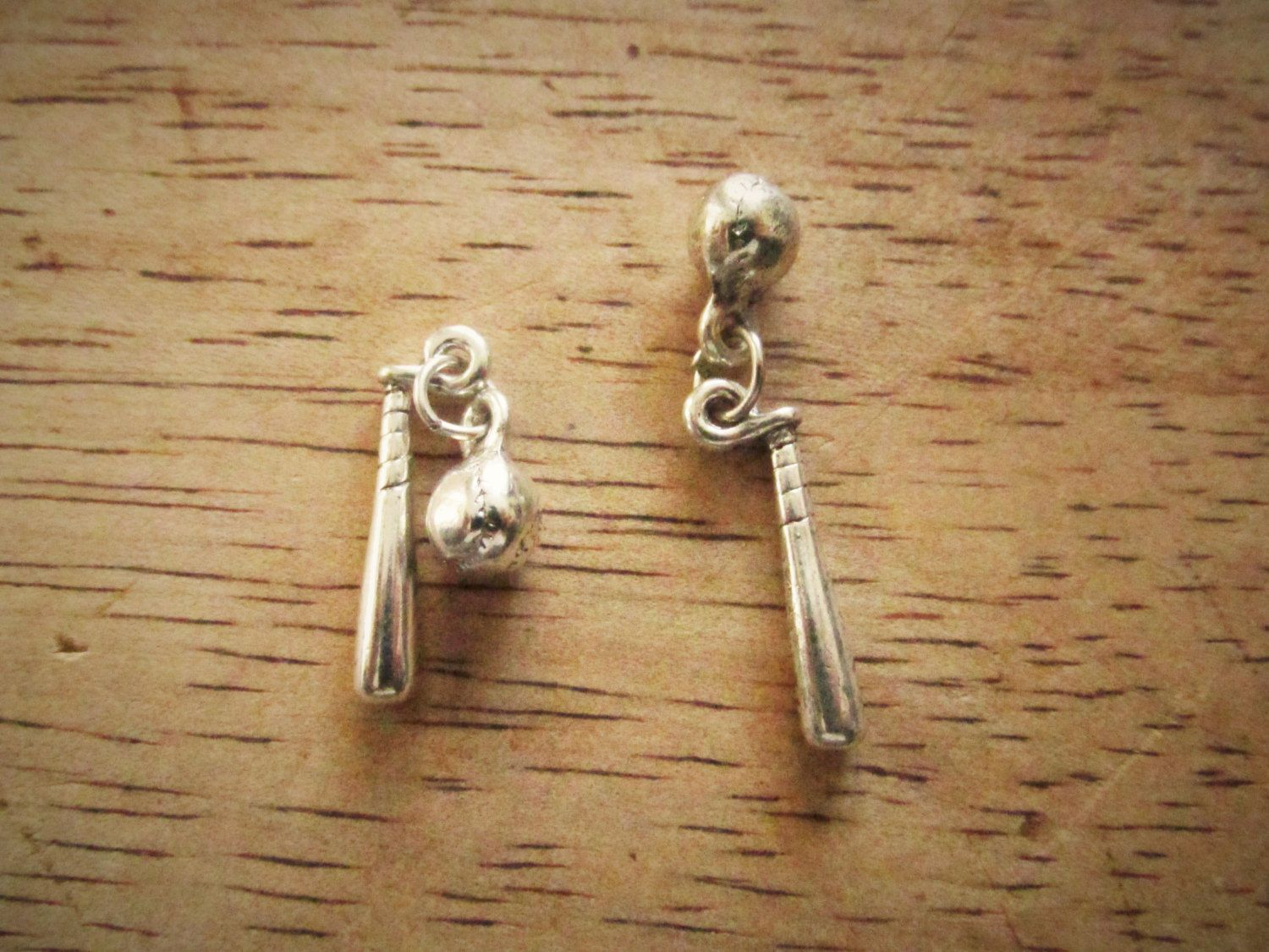 5 #Antique Silver #Baseball Bat and Ball Sports Pendant #Charms 32mm x 6mm x 6mm,  View more on the LINK: http://www.zeppy.io/product/gb/3/220076787/