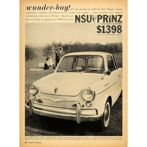 images of nsu car ads | 1959 NSU Prinz | Car Ads | Pinterest