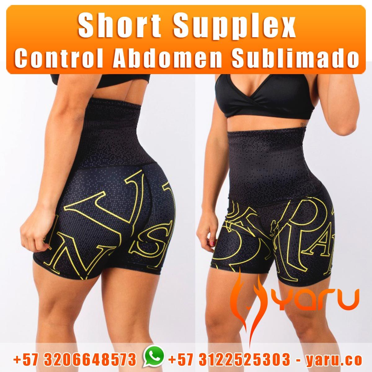 8bb394ad5cacb Short Supplex Sublimado Control Abdomen