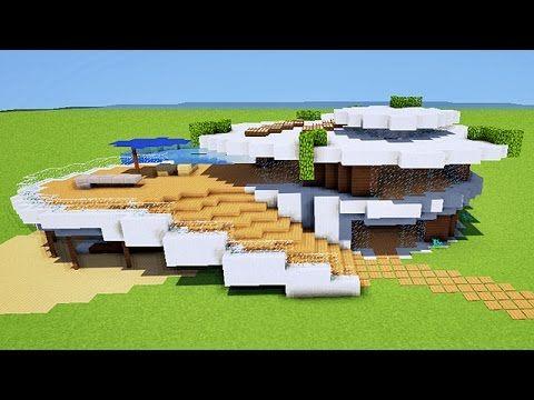 Tuto maison moderne minecraft pinterest maison for Maison moderne dans minecraft