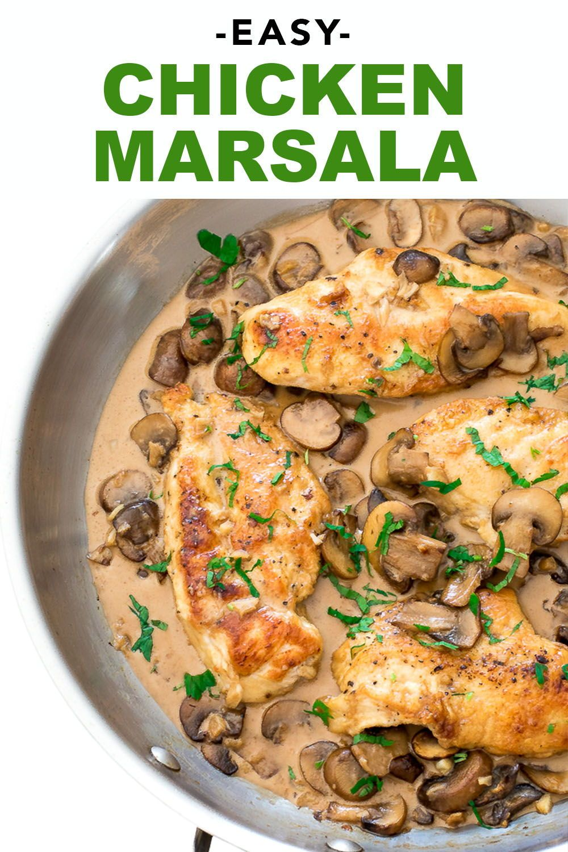 Easy Chicken Marsala Recipe Food Recipes Chicken Marsala