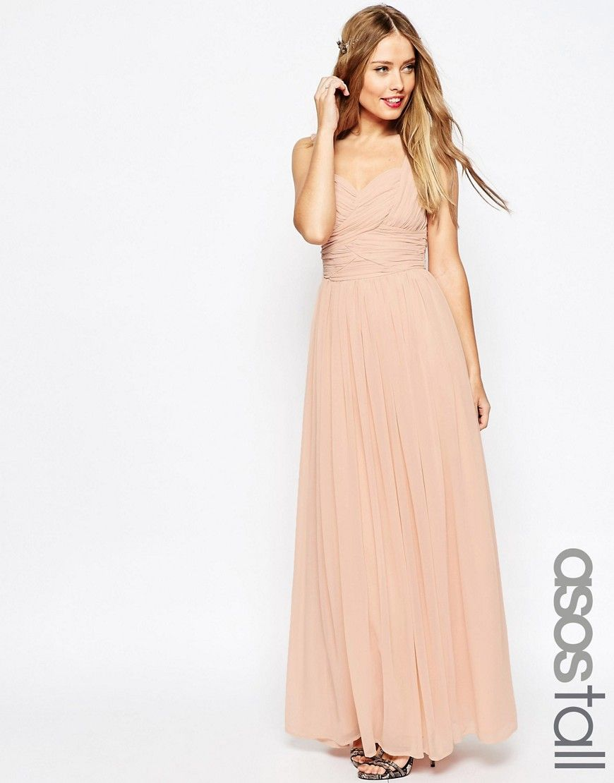 Image 1 of ASOS TALL WEDDING Ruched Panel Maxi Dress | Formal ...