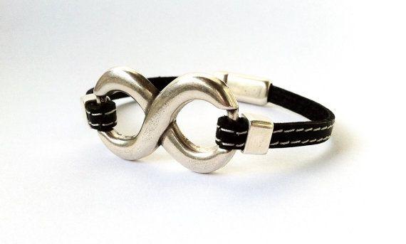 Mens+leather+bracelet+Leather+bracelet+for+men.+infinity+by+HITUK,+€17.00