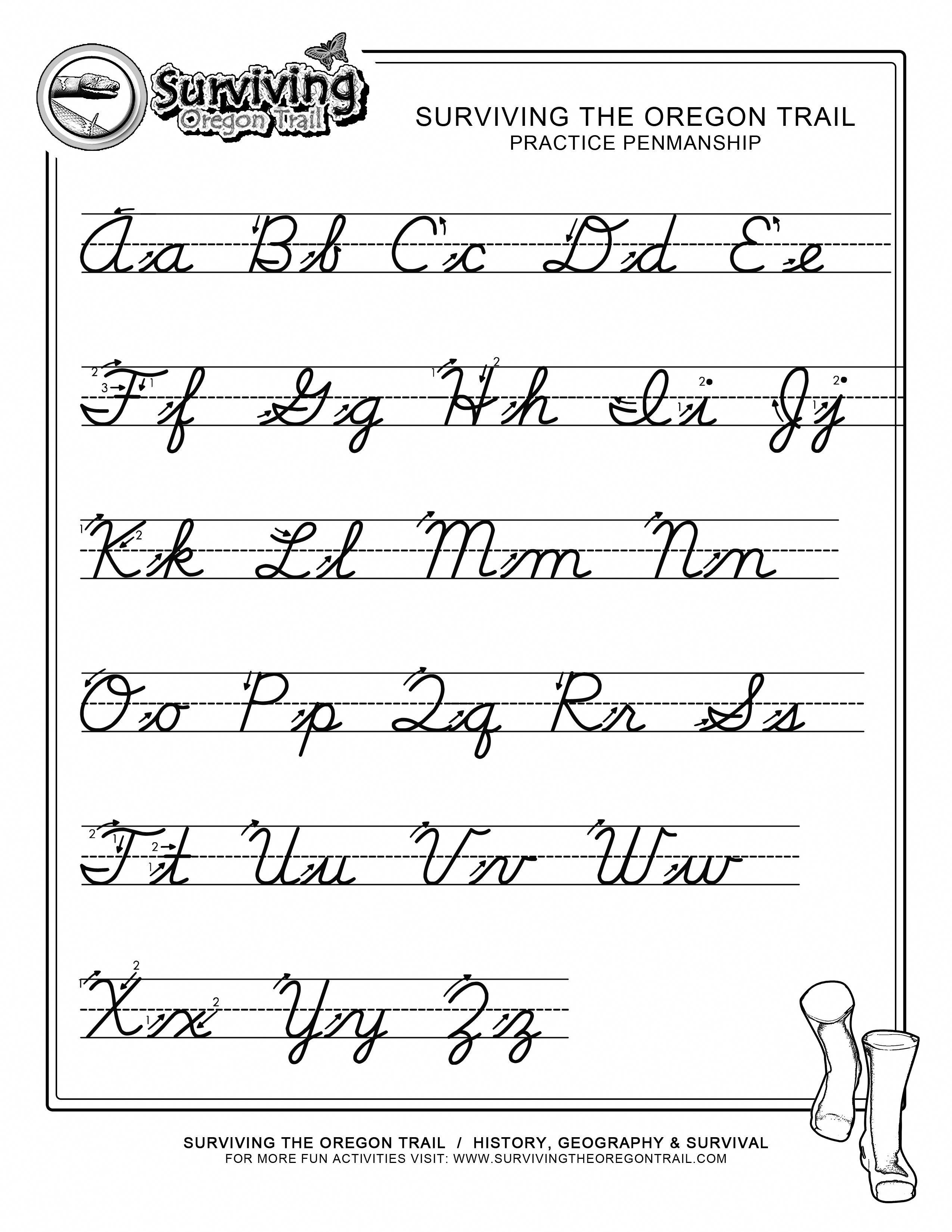Free Print Alphabet Letter Worksheets Free Abc S Printable Cursive Writing Wor Cursive Writing Worksheets Teaching Cursive Cursive Handwriting Practice