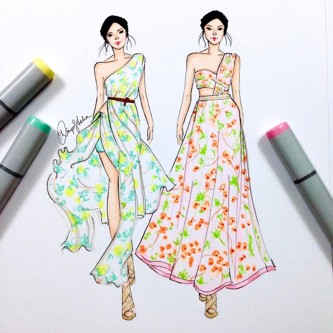63 Likes 8 Comments Priyal Prakash House Of Design Priyalprakas Fashion Illustration Sketches Dresses Fashion Design Sketches Fashion Illustration Dresses