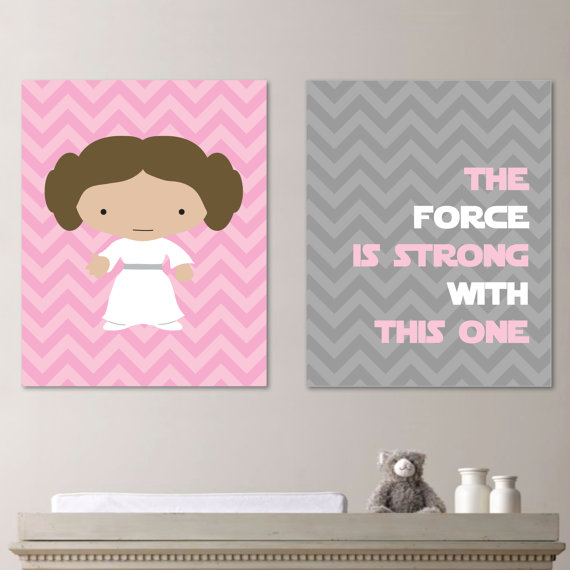 Star Wars Nursery Baby Girl Star Wars Star by RhondavousDesigns2 ...