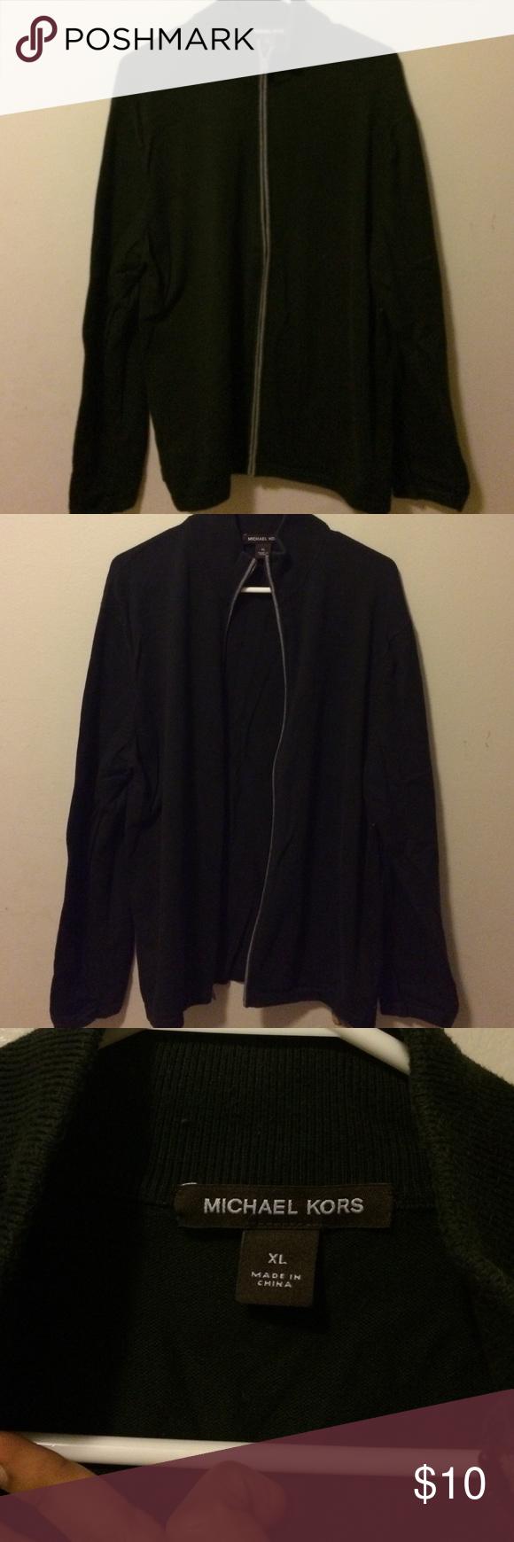 Black Michael Kors sweater Good condition Michael Kors Sweater Michael Kors Sweaters Zip Up