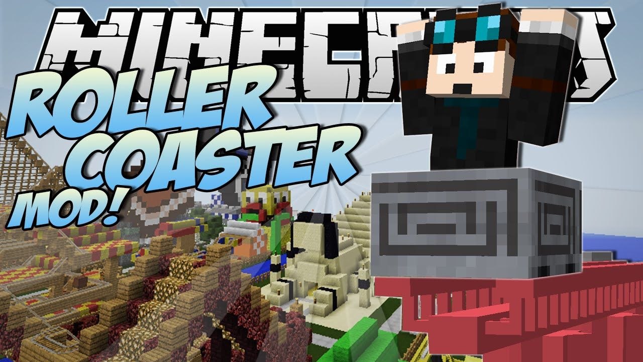 Minecraft | ROLLERCOASTER MOD! (Become a Rollercoaster