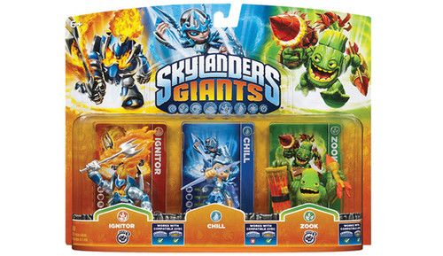 Brand New Skylanders Giants 3 Character Pack Ignitor Chill Zook Free Shipping Skylanders Giants Characters Skylanders Activision